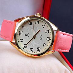 Mulheres Relógio de Moda Relógio Casual Quartzo Relógio Casual Couro Banda Branco Azul Marrom Rosa Roxa Cores Múltiplas marca