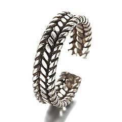 指輪 ビンテージ 日常 / カジュアル ジュエリー 純銀製 バンドリング 1個,調整可 シルバー