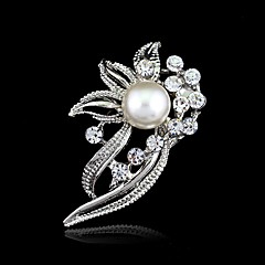 Damskie Broszki Kryształ Żywica Kryształ górski Stop Modny Silver Biżuteria Ślub Impreza Urodziny Zaręczynowy Codzienny