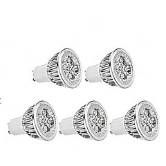 5W GU10 Lâmpadas de Foco de LED MR16 1 350-400 lm Branco Quente Regulável AC 220-240 V 5 pçs