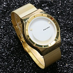 PAIDU Men Luxury Golden Watch Stainless Steel Mesh Band Fashion Casual Design Dial Relogio Masculino Wrist Watch Cool Watch Unique Watch