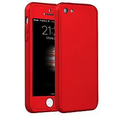 copertura completa del corpo di alta qualità pc con il caso di film di vetro temperato per il iphone 5 / 5s / SE
