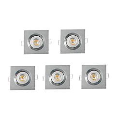 5 stuks MORSEN 3W 1 Krachtige LED 200-300 LM Warm wit Verzonken ombouw Dimbaar Verzonken lampen / Plafondlampen / Paneellampen AC 220-240