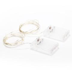 2m 20-led zewnątrz święto dekoracji biały / ciepłe światło białe światła LED string (4.5V)