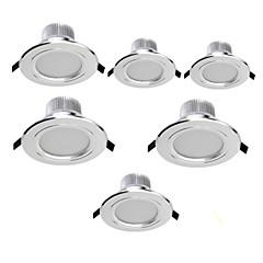 7W Downlight de LED Encaixe Embutido 15 SMD 5630 700 lm Branco Quente / Branco Frio Decorativa AC 85-265 V 6 pçs