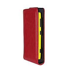 Voor Nokia hoesje Flip hoesje Volledige behuizing hoesje Effen kleur Hard PU-leer NokiaNokia Lumia 620 / Nokia Lumia 530 / Nokia Lumia