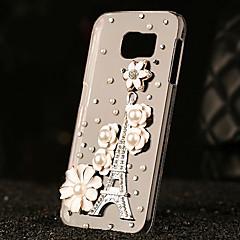 luxo de plástico diamante olhar para trás cobertura para Samsung Galaxy S6 / galáxia S6 edge / galáxia S6 borda mais