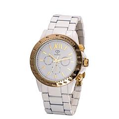 Dames Modieus horloge Kwarts Waterbestendig Keramiek Band Wit Wit