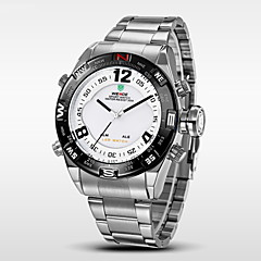 WEIDE® Men's Analog Digital LED Watch Japan Mov't Stainless Steel Watch Cool Watch Unique Watch
