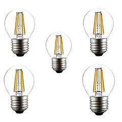 5pcs g45 4w e27 400lm 360 Grad warme / kühle weiße Farbe edison Glühfaden Licht führte Glühlampe (220 VAC)
