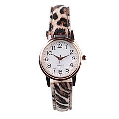 Dames Modieus horloge Kwarts PU Band Luipaard  Meerkleurig Streep