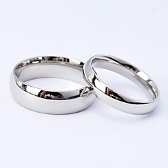 Simple High Polished Titanium Steel Couple Rings 2pcs Promis rings for couples