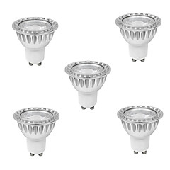 9W GU10 LED Spotlight MR16 1 COB 810 lm Warm White AC 85-265 V 5 pcs