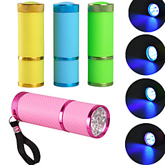 hurtowej sprzedaży przenośnych mini 9led fototerapia Maszyna lampy ultrafioletowe UV latarka szybko schnący