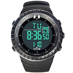 Мужской Спортивные часы Цифровой LCD / тревога / Светящийся / Хронометр Pезина Группа Черный бренд-