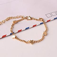 Damskie Bransoletki i łańcuszki na rękę Bransoletki z breloczkami Stop Modny Heart Shape Star Shape Golden Biżuteria 1szt
