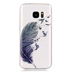 Для Samsung Galaxy S7 Edge Прозрачный / С узором Кейс для Задняя крышка Кейс для Перо Мягкий TPU S7 edge / S7 / S6 edge / S6 / S5