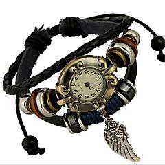 Damskie Modny Zegarek na bransoletce Cyfrowe Skóra Pasmo Artystyczny Brązowy Brown