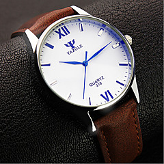 Męskie Zegarek na nadgarstek Kwarcowy Wodoszczelny Skóra Pasmo Czarny / Brązowy Marka-