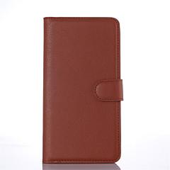 Mert Nokia tok Pénztárca / Kártyatartó / Állvánnyal Case Teljes védelem Case Egyszínű Kemény Műbőr NokiaNokia Lumia 850 / Nokia Lumia 730