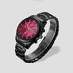 Masculino Relógio de Pulso Quartzo Impermeável Aço Inoxidável Banda Preta Prata Marrom Branco Preto Rosa