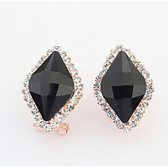 Earring Jewelry Women Adorable Wedding / Party / Daily Alloy / Rhinestone / Glass 1 pair Black / White / Red / Blue / Green
