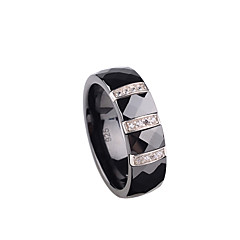 Sterling Silver / Ceramic Ring Couple Rings Wedding / Party / Daily / Casual 1pc Promis rings for couples