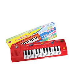 Teclado niño simulación de plástico rojo para niños mayores de 3 instrumentos musicales de juguete