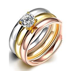 Anéis Grossos Maxi anel Anel Zircônia cúbica Zircão Zircônia Cubica Moda Estilo Boêmio Estilo Punk Ajustável Adorável BorlasCores