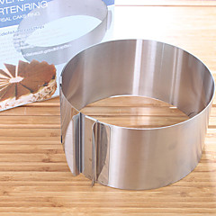 Hot Sale Retractable Stainless Steel Circle Mousse Ring Baking Tool Set Cake Mould Mold Size Adjustable Bakeware 16-30cm