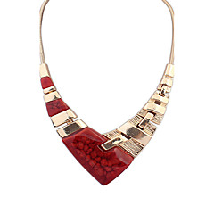 Necklace Pendant Necklaces Jewelry Alloy / Resin Party / Daily / Casual Black / Red 1pc Gift