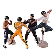 4pcs / set Bruce Lee Kung Fu pvc collecte de figurines jouets fraîches