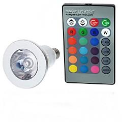 3W E14 LED-globepærer A50 1 Højeffekts-LED 100-200 lm RGB Fjernstyret Vekselstrøm 85-265 V 1 stk.