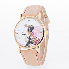 Women's Fashion Watch Casual Watch Casual Watch Quartz PU Band Butterfly Flower Black White Blue Red Brown Green Pink Rose