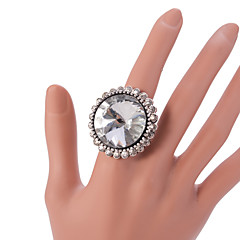 指輪 ファッション / ビンテージ / 調整可能 パーティー / 日常 / カジュアル ジュエリー 合金 女性 ステートメントリング 1個,調整可 シルバー