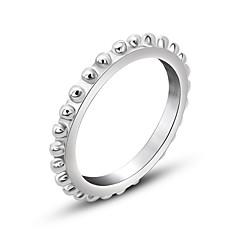 반지 패션 일상 보석류 밴드 반지 1PC,원 사이즈 실버