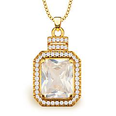 de alta calidad colgantes de circón mujeres / hombres de regalo joyería de la vendimia 18k chapado en oro collar de cristal de la moda