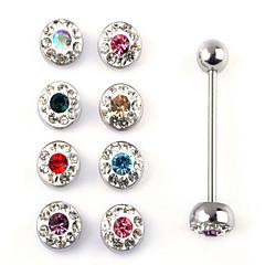 Tungpiercing / Nosringar & Dubbar Rostfritt stål Bohemstil Gyllene / Silver Smycken,1set