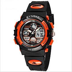 아동 손목 시계 일본 쿼츠 LCD / 크로노그래프 / 방수 / 듀얼 타임 존 / 경보 / 야광의 PU 밴드 블랙 상표-