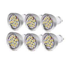 YouOKLight® 6PCS GU10 7W CRI=80 700LM  Warm White/Cool White  15-SMD5630 LED Spot Lights(AC110-120V/220-240V)