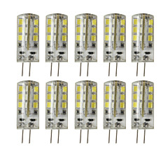G4 Luces LED de Doble Pin T 24 SMD 2835 450 lm Blanco Cálido Blanco Fresco Decorativa Regulable DC 12 V 10 piezas