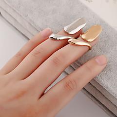 Ringer Sexy Mote Daglig Avslappet Smykker Dame Negle Finger Ring 1 stk,4 Gylden Sølv