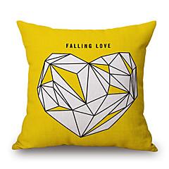 stk Katoen/Linnen Kussenhoes,Geometrisch Patchwork Citaten & Gezegdes Informeel Decoratief Modern/Hedendaags