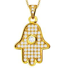 divat hamsa kéz medál női / férfi 18k aranyozott kristály nyaklánc medálok ékszerek p30024