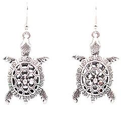 Modny Rzeźniony Pusty Stop Flower Shape Geometric Shape Animal Shape żółw Silver Biżuteria Na Ślub Impreza Codzienny Casual 1 para