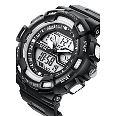 SANDA® Men's Fashion Sport Analog Digital Double Time LCD Screen Waterproof Rubber Watch Fashion Wrist Watch Cool Watch