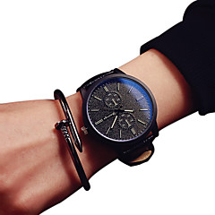 Fashion Quartz Casual Harajuku PU Belt Round Alloy Dial Analog Couple's Wrist Watches Cool Watches Unique Watches