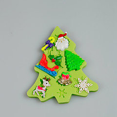 Christmas Themed Silicone Mould Fondant Cake Decorating Tools for Chocolate Cupcake Candy Polymer Clay Accessories