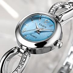 아가씨들 팔찌 시계 석영 캐쥬얼 시계 스테인레스 스틸 밴드 실버 상표