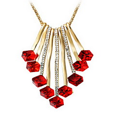 Exquisite Crystal Tassel Pendant Necklace Jewelry for Lady